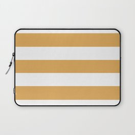 Sunray - solid color - white stripes pattern Laptop Sleeve