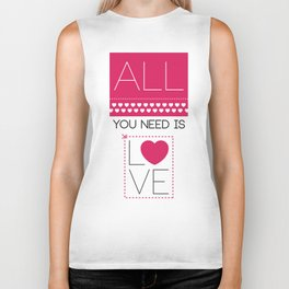 All you need is love Biker Tank