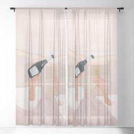 Morning Wine Sheer Curtain