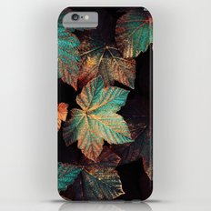 Copper And Teal Leaves iPhone 6 Plus Slim Case
