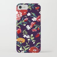 vampire weekend iPhone & iPod Cases featuring VAMPIRE WEEKEND FLORAL VECTOR by Danielle Ebro