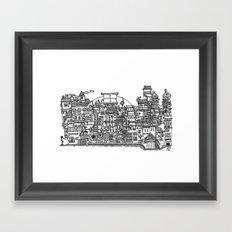 Busy City XI Framed Art Print