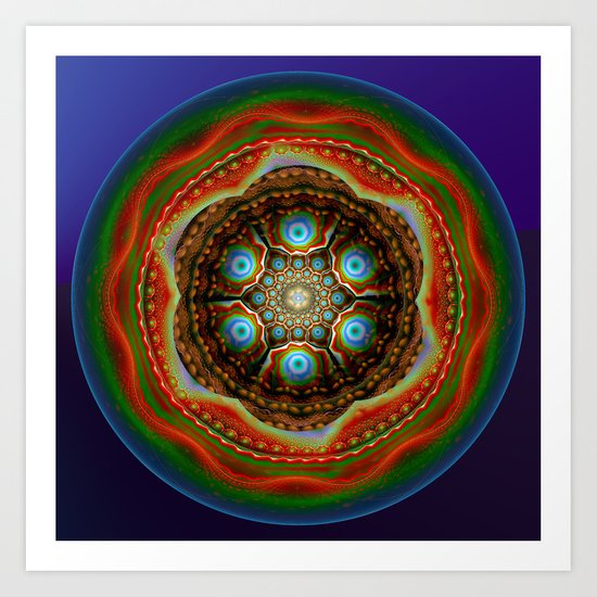 Trip to the centre Art Print