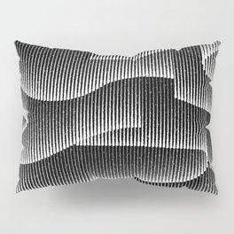 Aurora Borealis_Black and White Pillow Sham