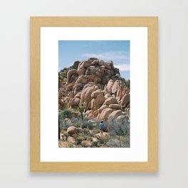 Towards the rocks Framed Art Print