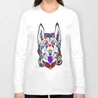 husky Long Sleeve T-shirts featuring Husky  by PastelxPalette