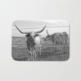 Longhorn Cows Bath Mat