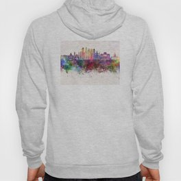 Buenos Aires V2 skyline in watercolor background Hoody