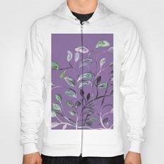 Silky Lavender Greenery Leaves Hoody