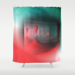 colors and mirrors Shower Curtain