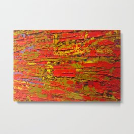 Up Close & Personal with Red Townscape II, #1 Metal Print