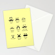 Eyes and Facial Hair Stationery Cards