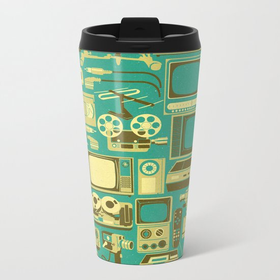 Retro technology Metal Travel Mug