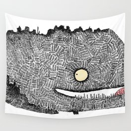 Scribbly monster Wall Tapestry