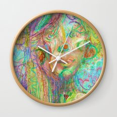 Psychedelic Girl Wall Clock