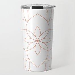 Mandala Rose Gold Pink Art Deco Travel Mug