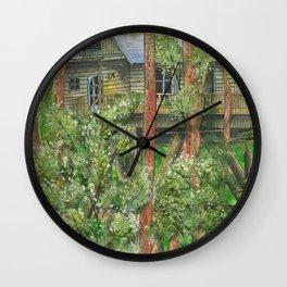 Hidden Treehouse Wall Clock