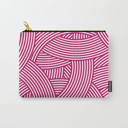 New Weave in Pink Carry-All Pouch