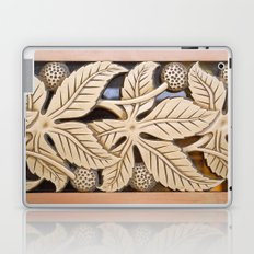 Bronze Art deco leaves Laptop & iPad Skin