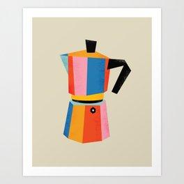 Multicolor Moka Art Print
