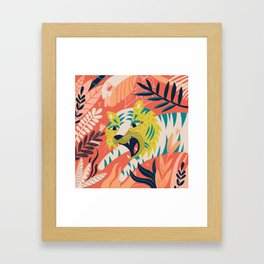 Tiger grrrrr Framed Art Print