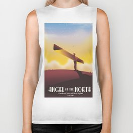 Angel of the North Travel poster. Biker Tank