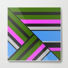 Striped triangles 5 Metal Print