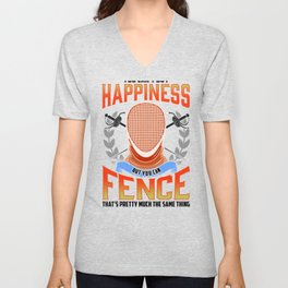 Fencing Can't Buy Happiness But You Can Fence Same Thing Fence Unisex V-Neck