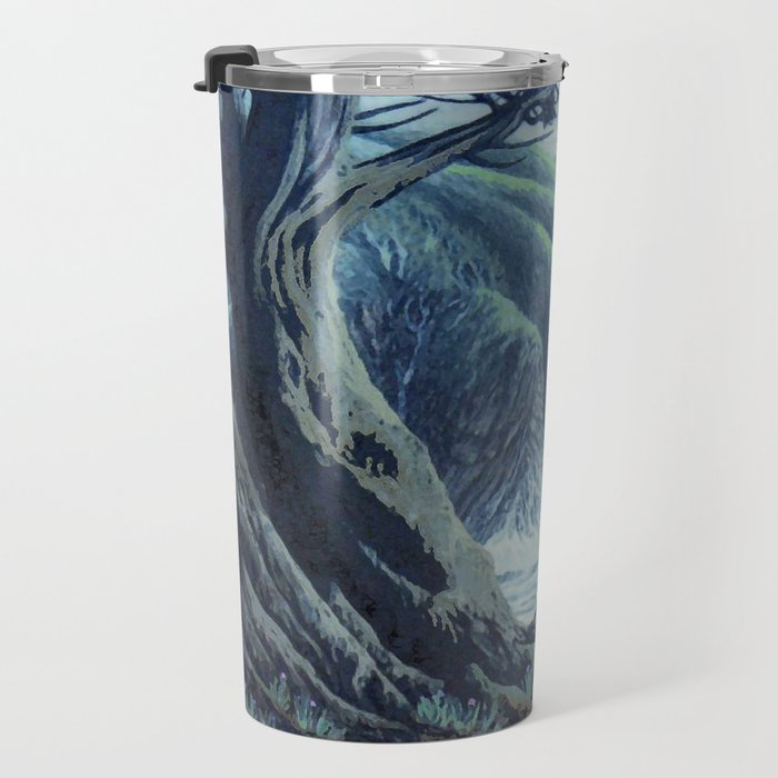 WINDSWEPT CYPRESS TREES ON THE MENDOCINO COAST CALIFORNIA Travel Mug