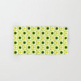 Geometric Pattern #210 (lime green) Hand & Bath Towel