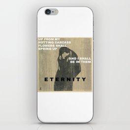 Munch + text iPhone Skin