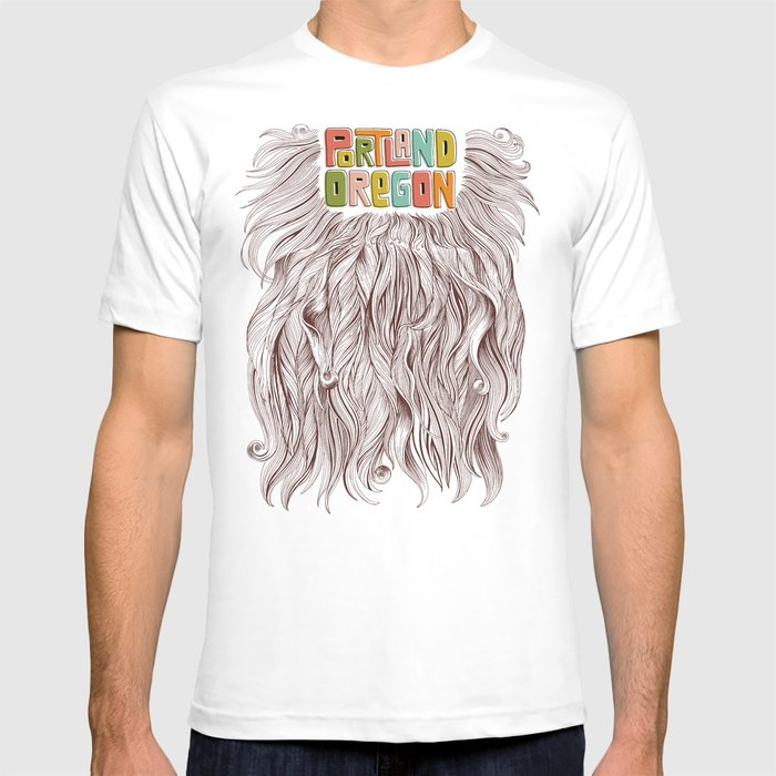 Portland = Beards T-shirt