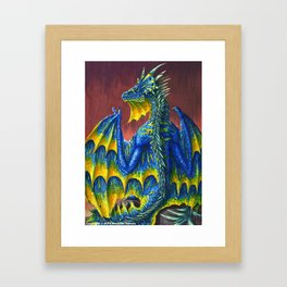 Horned Dragon Framed Art Print
