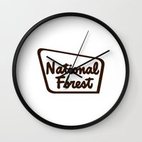 the national Wall Clocks featuring National Forest by Man and his World