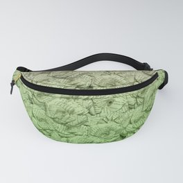 Chartreuse Green Ombre Book Flowers Fanny Pack