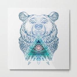 bear triangular geometric custom design Metal Print