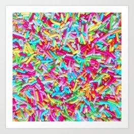 Candy Sprinkle Pattern Art Print