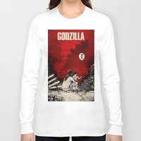 godzilla Long Sleeve T-shirts featuring Godzilla.  by Sinpiggyhead