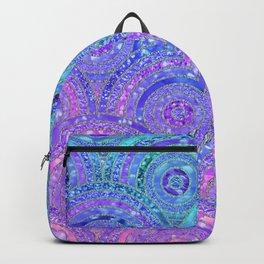 Aqua Blue Purple and Pink Sparkling Glitter Circles Backpack