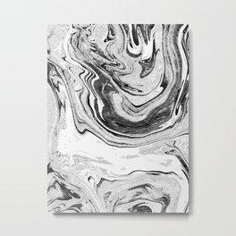Marble Suminagashi 4 watercolor pattern art pisces water wave ocean minimal design Metal Print