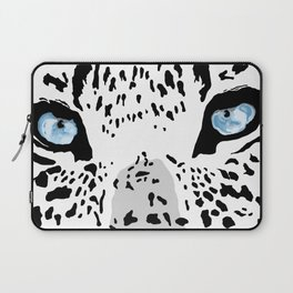 The blues; leopard. Laptop Sleeve