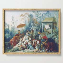 Le Jardin Chinois by François Boucher Serving Tray