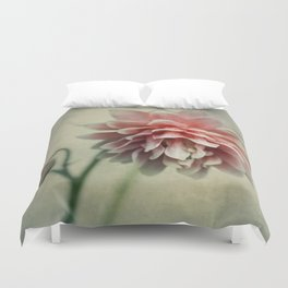 Pretty red columbine flower Duvet Cover