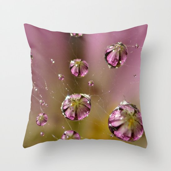 who knew a web could hold such treasures? Throw Pillow