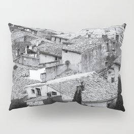 Romantic Lookout | Rooftops, France | Black & White Photography | Travel & Street Photography | Photo Print | Art Print Pillow Sham