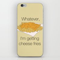 fries iPhone & iPod Skins featuring Cheese Fries by Borrowed Lines