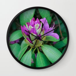 rhododendron flower  Wall Clock