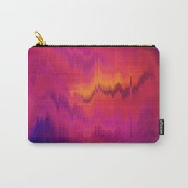 Pink Glitch abstract Carry-All Pouch