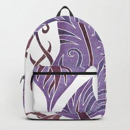 Leaf - Exotic Boho Leaf Pattern 02- Colorful, Modern, Tropical Art - Purple, Cosmic, Jagger Backpack