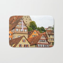Traditional medieval German houses Bath Mat